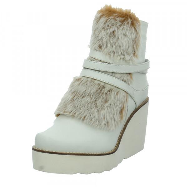 Tizian Damen New York 03 Weiße Leder/Textil Stiefelette Offwhite - Bild 1