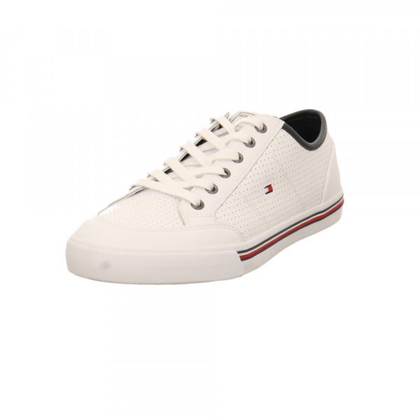 Tommy Hilfiger Herren Core Corporate Leather Weißer Leder/Synthetik Sneaker Weiß - Bild 1