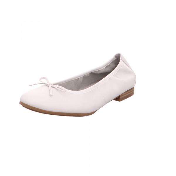 Tamaris Damen 22116-925 Weiße Glattleder Ballerina Weiß - Bild 1
