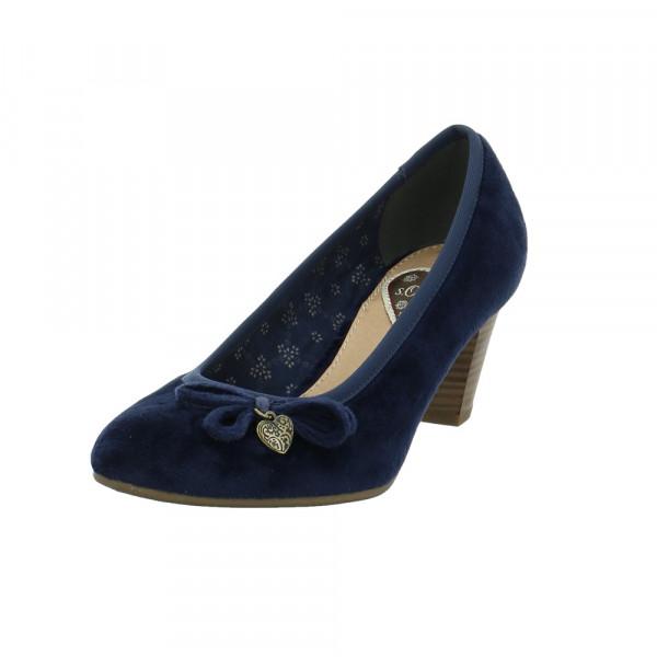 S.Oliver Damen 22470-805 Blauer Textil Pumps Blau - Bild 1