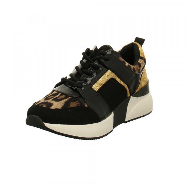 La Strada Damen 1807433/6091 Schwarz/Goldene Textil Sneaker Schwarz - Bild 1