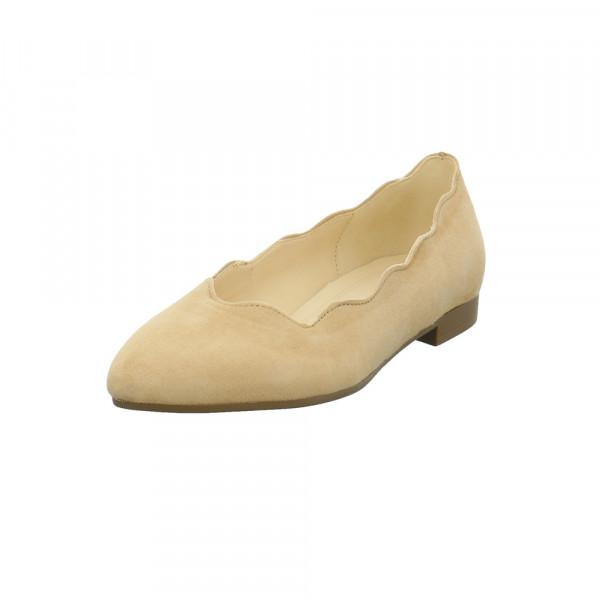 Gabor Damen 41-300-12 Beiger Nubukleder Ballerina Beige - Bild 1