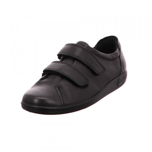 Ecco Damen Soft 2.0 Schwarze Glattleder Sneaker Schwarz - Bild 1