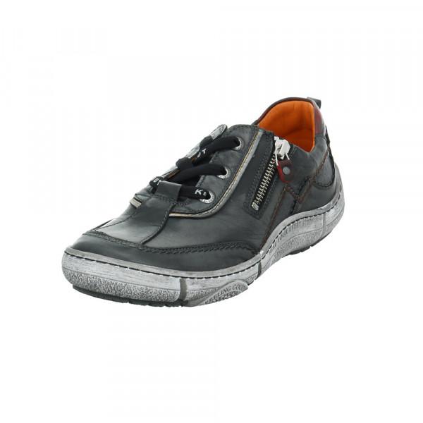 Krisbut Damen 2447-2 Schwarzer Glattleder Sneaker Schwarz - Bild 1