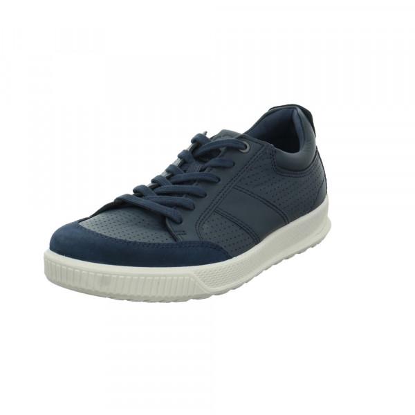Ecco Herren Byway Blaue Glattleder Sneaker Blau - Bild 1