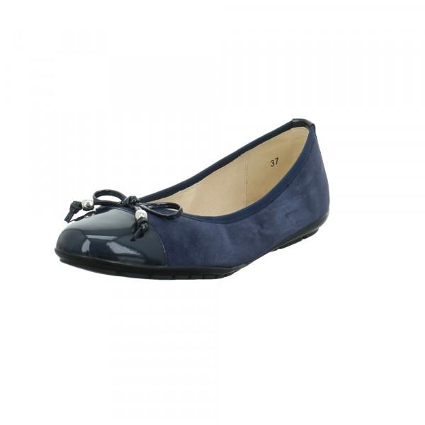 Caprice Damen 22109-880 Blauer Materialkombinierter Ballerina Blau - Bild 1