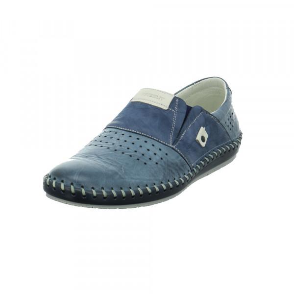 Krisbut Herren 5164-2 Blaue Glattleder Slipper Blau - Bild 1