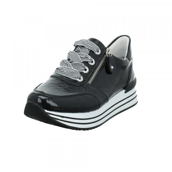 Remonte Damen D1302-02 Schwarzer Lackleder Sneaker Schwarz - Bild 1