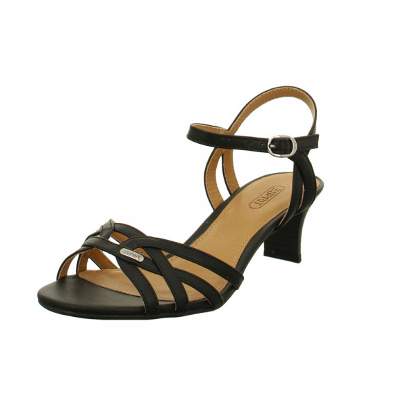 Esprit Damen Birkin Sandale 039EK1W007/001 Schwarze Synthetik Sandalette Schwarz - Bild 1
