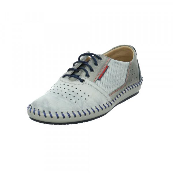 Krisbut Herren 5200-2 Graue Glattleder Sneaker Grau - Bild 1