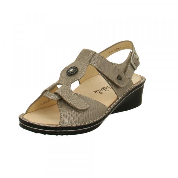 Finn Comfort Damen Adana 2660/537189 Grau Metallische Perlatoleder Sandalette Gold / Silber - Bild 1
