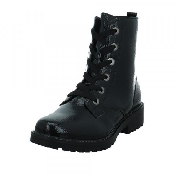 Remonte Damen R6582-02 Schwarze Lackleder Boots Schwarz - Bild 1