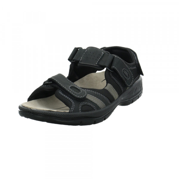 Jomos Herren Activia schwarze Glattleder Sandale - Bild 1