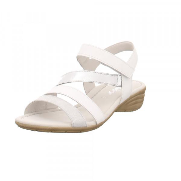 Gabor Damen 24-551-61 Weiße Glattleder Sandale Weiß - Bild 1