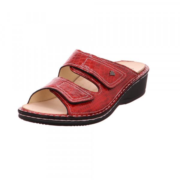 Finn Comfort Damen Jamaika 2519/018063 Rote Lackleder Pantoletten Rot / Bordeaux - Bild 1
