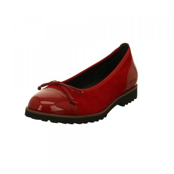 Gabor Damen 34-100-13 Rote Veloursleder/Lackleder Ballerina Rot / Bordeaux - Bild 1