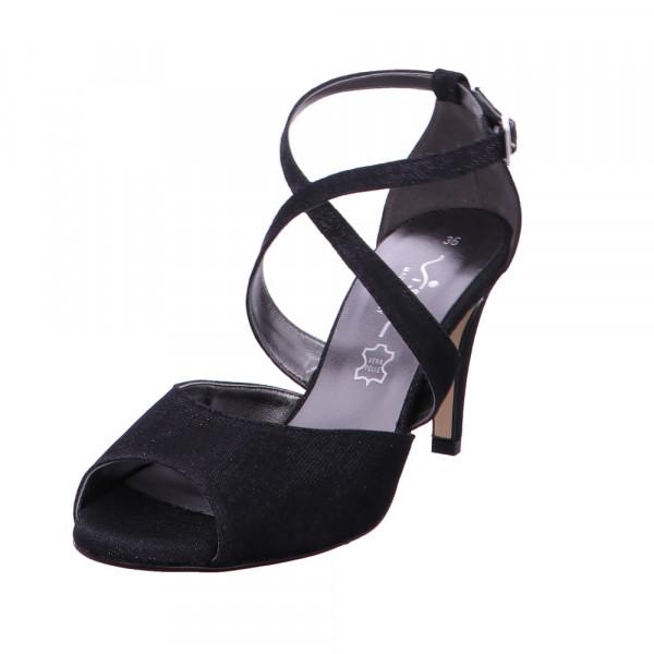 Vista Damen 31-F196 Schwarze Textil Sandalette Schwarz - Bild 1