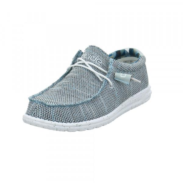 Hey Dude Herren Wally Sox Grauer Textil Sneaker Grau - Bild 1