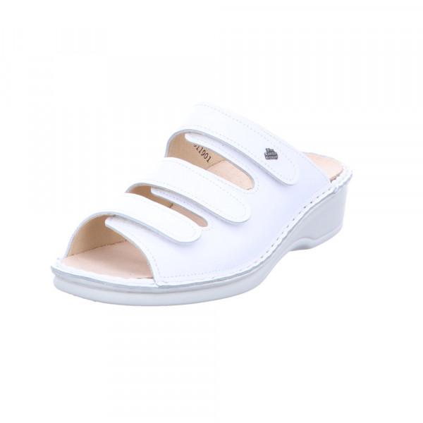 Finn Comfort Damen Pisa 2501/001000 Weiße Glattleder Pantolette Weiß - Bild 1