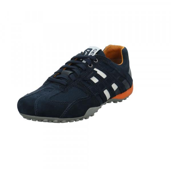 Geox Herren U Snake K Blauer Leder/Textil Sneaker Blau - Bild 1