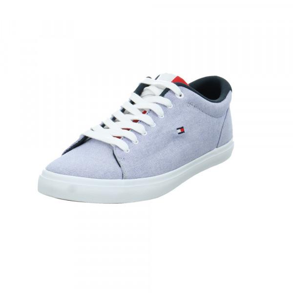 Tommy Hilfiger Herren FM0FM03472DYB Blauer Textil Sneaker Blau - Bild 1