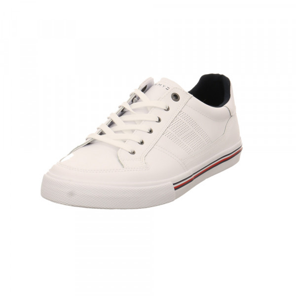 Tommy Hilfiger Herren Core Corporate Weißer Glattleder Sneaker Weiß - Bild 1