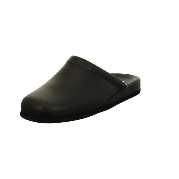 Rohde Windsor Herren Pantoffel aus Glattleder in schwarz Schwarz - Bild 1