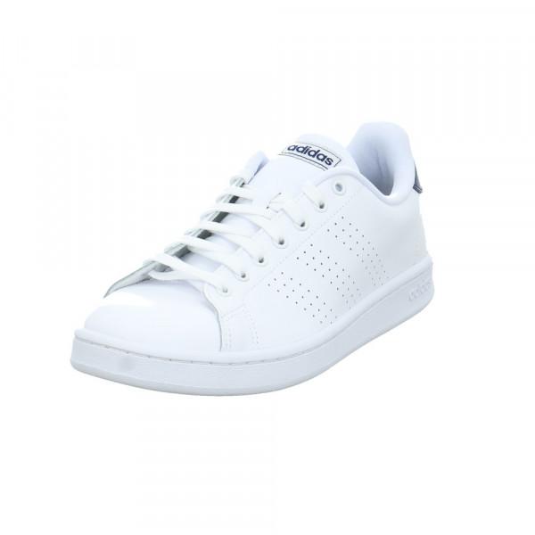 Adidas Herren Advantage Weißer Leder/Synthetik Sneaker Weiß - Bild 1