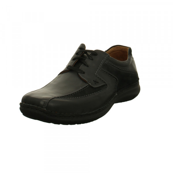 Josef Seibel Anvers Herren Sneaker aus Glattleder in schwarz Schwarz - Bild 1