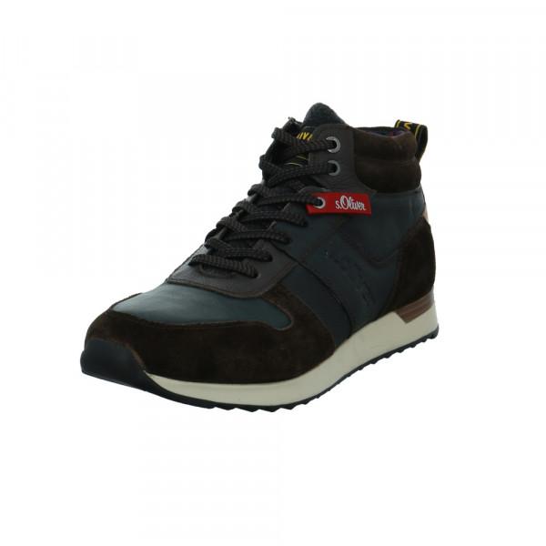 S.Oliver Herren 15222/302 Braun/Blauer Leder Sneaker Multicolor - Bild 1