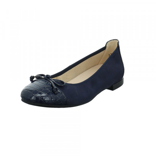 Caprice Damen 22105-880 Blauer Leder/Synthetik Ballerina Blau - Bild 1