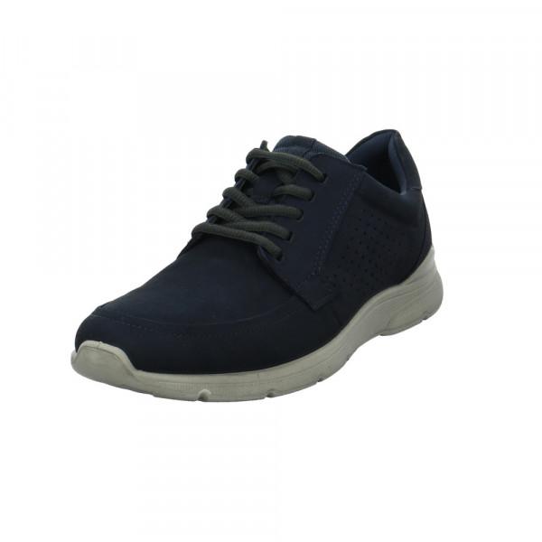 Ecco Herren Irving Blauer Veloursleder Sneaker Blau - Bild 1