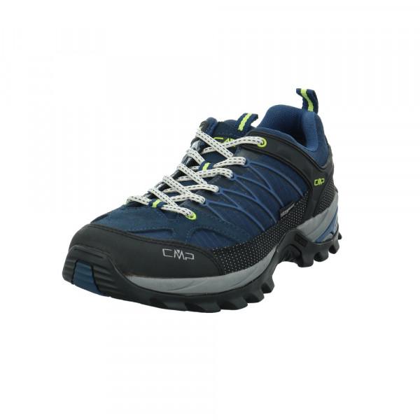 CMP Herren Rigel Low Blaue Nubuk Mesh Sneaker Blau - Bild 1