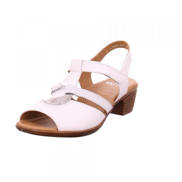 Ara Damen - Lugano - Weiße Perlatoleder Sandalette Weiß - Bild 1