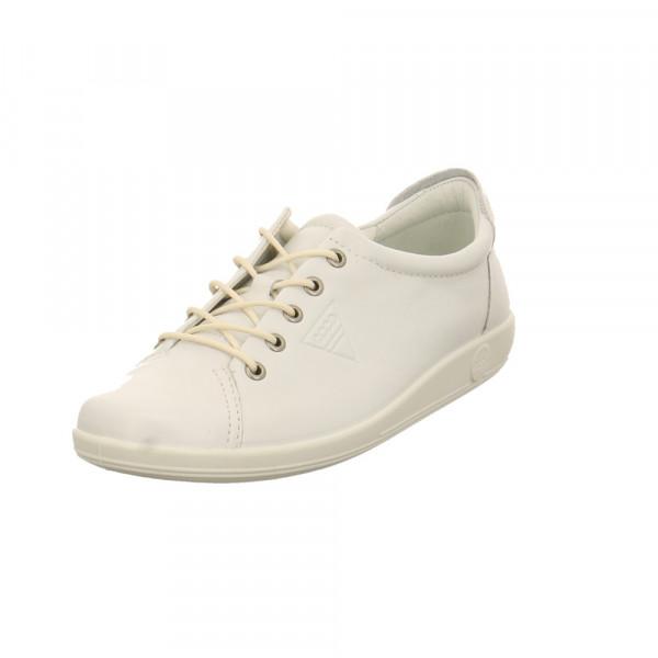 Ecco Damen Soft 2.0 Weiße Glattleder Sneaker Weiß - Bild 1