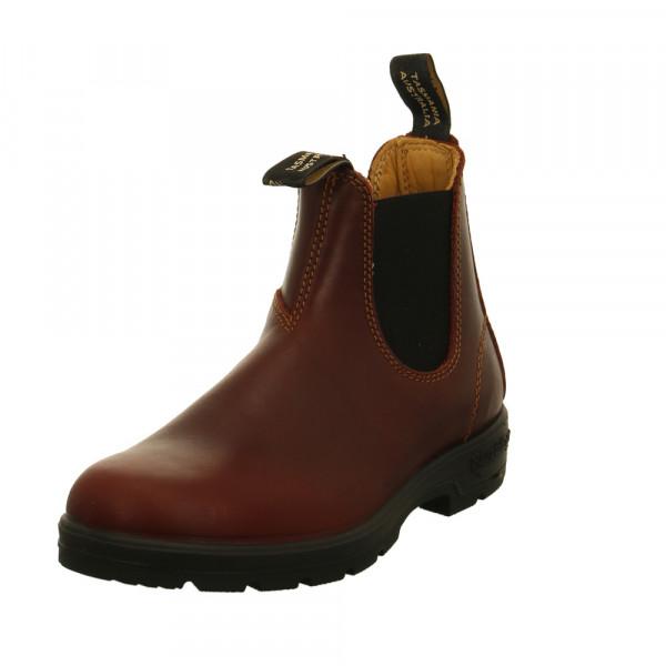 Blundstone Damen 1440 Rote Glattleder Chelsea Boots Rot / Bordeaux - Bild 1