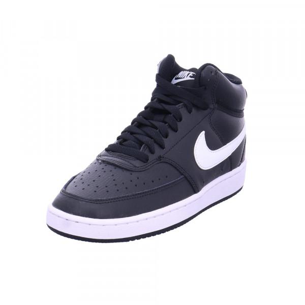 Nike Damen WMNS Nike Court Vision Mid Schwarze Glattleder Sneaker Schwarz - Bild 1
