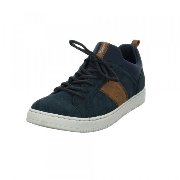 Rieker Herren B5954-14 Blauer Leder/textil Sneaker Blau - Bild 1