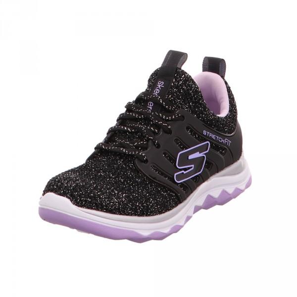 Skechers Kinder Diamond Runner Schwarze Textil Sneaker Schwarz - Bild 1