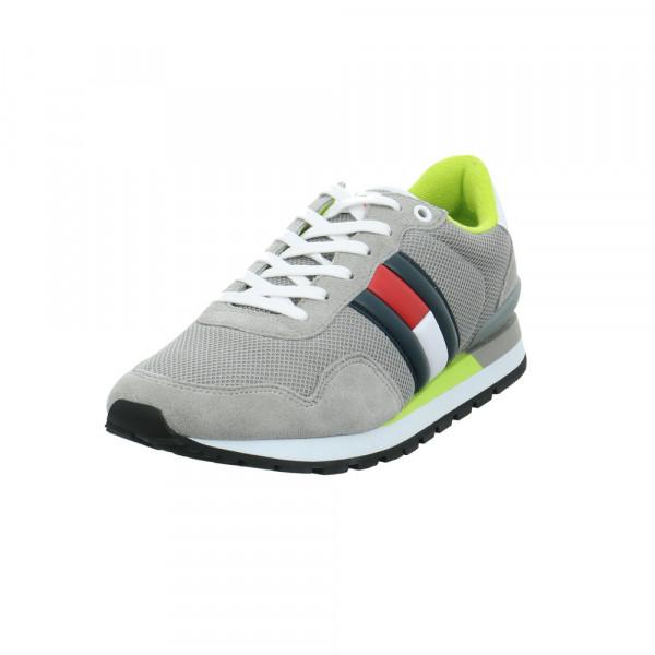 Tommy Jeans Herren Casual Tommy Jeans Grauer Leder/Textil Sneaker Grau - Bild 1