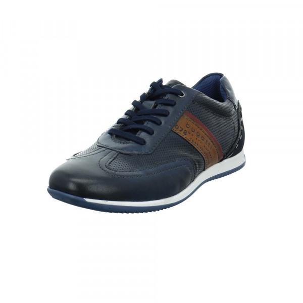 Bugatti Herren 311-45010-4141-4163 Blauer Glatt-/Veloursleder Sneaker Blau - Bild 1