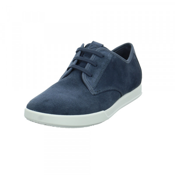 Ecco Herren Collin 2.0 Blauer Verloursleder Sneaker - Bild 1