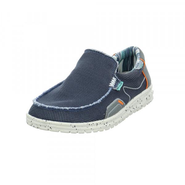 Hey Dude Herren Mikka Blauer Textil Sneaker Blau - Bild 1