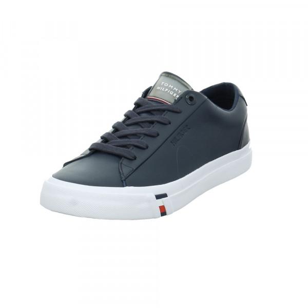 Tommy Hilfiger Herren Corporate Leather Blauer Leder/Synthetik Sneaker Blau - Bild 1