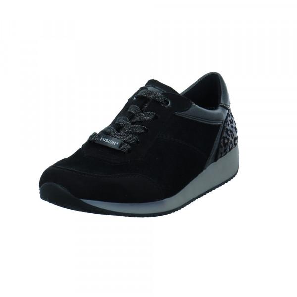 Ara Damen Lissabon Fusion 4 Schwarzer Synthetik/Textil Sneaker Schwarz - Bild 1