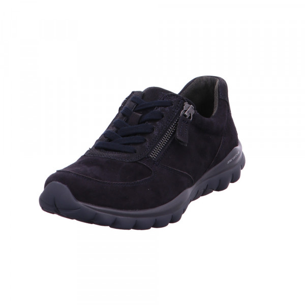 Gabor comfort Damen Rolling-Soft sensitiv Blaue Nubukleder Sneaker Blau - Bild 1