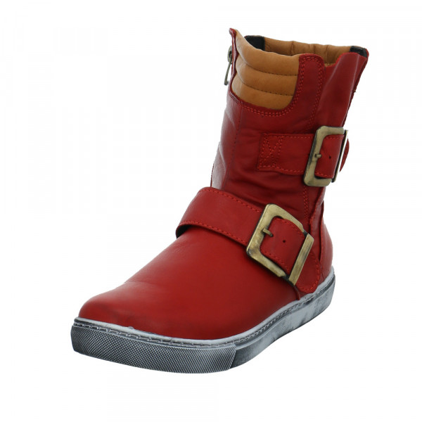 Andrea Conti Damen 0346833-644 Rote Glattleder Winterboots Rot / Bordeaux - Bild 1