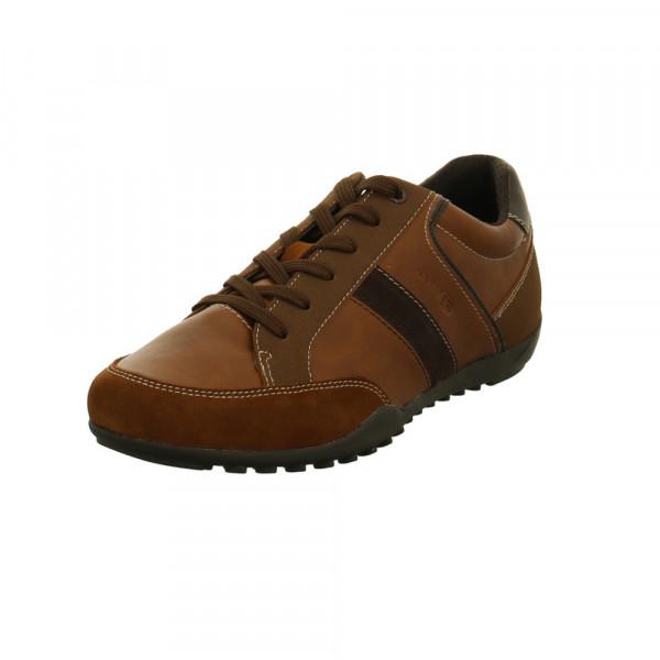 Geox Herren Ravex Braune Leder/Textil Sneaker Braun - Bild 1