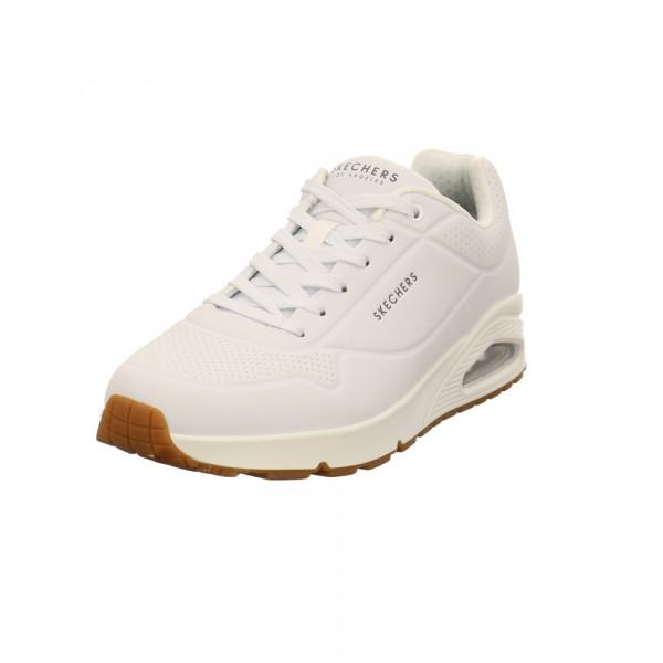 Skechers Herren 52458WHT Weißer Synthetik Sneaker Weiß - Bild 1