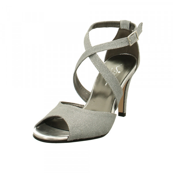 Vista Damen 31-F96 Silberne Textil Sandalette Gold / Silber - Bild 1